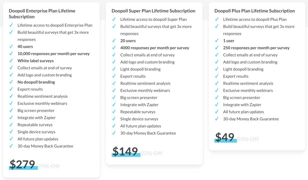doopoll-lifetime-deal-offer-plans