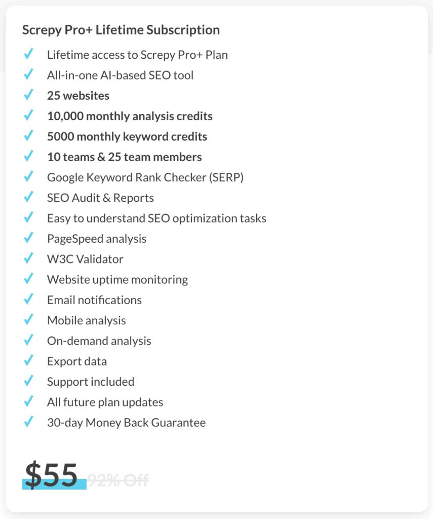 screpy-lifetime-deal-plan-offers
